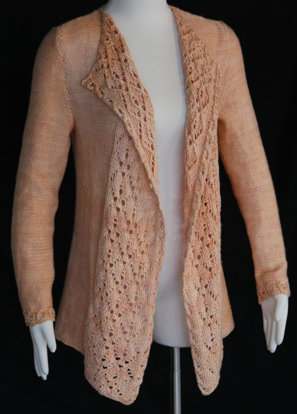 Knitting Pattern For Waterfall Jacket : Waterfall Cardigan By Ashwini Jambhekar   The Knitting Guild Association